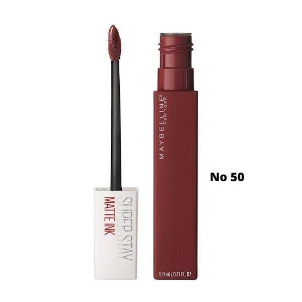 Maybelline Superstay Matte Ink Liquid Lipstick Κραγιόν Νο 50