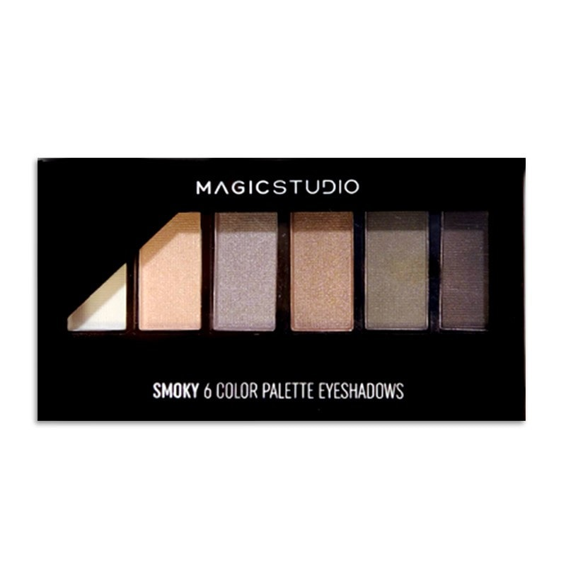 Παλέτα Σκιών Magic Studio - Smoky Palette 6col