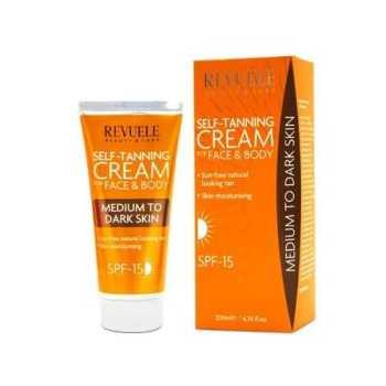 Revuele Self Tanning Cream Στιγμιαίο Μαύρισμα Πρόσωπο & Σώμα Dark