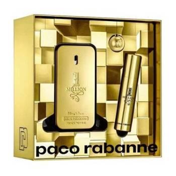 Paco Rabanne One Million Men's Giftset Άρωμα EDT 50ml Άρωμα EDT 10ml & Μπρελόκ