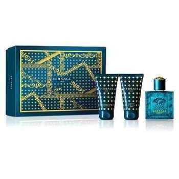 Versace Eros Men's Giftset Άρωμα EDT 50ml Αφρόλουτρο 50ml After Shave Balm 50ml