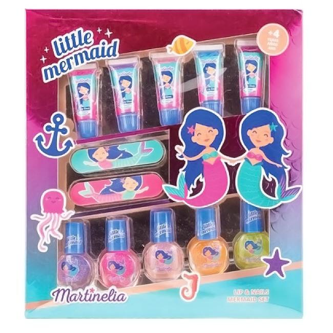Martinelia Little Mermaid Nail & Lip Gloss Set Βερνίκια 5 x 4ml & Lip gloss 5 x 6ml
