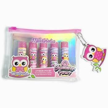 Martinelia Owl Lip Balm Cosmetic Bag Σετ Lip Balm Κουκουβάγιες 6 x 4gr