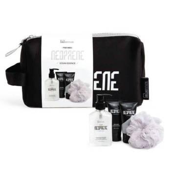 IDC Neoprene Black Men's Gift Set Body Wash & Shampoo 160ml Body Lotion 60ml Shaving Gel 60ml