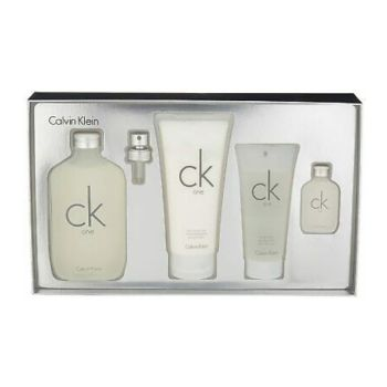 Calvin Klein Ck One Unisex Giftset Άρωμα EDT 200ml + Άρωμα EDT 15ml + Body Lotion 200ml+Shower Gel 100ml