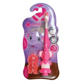 Setablu Παιδική Οδοντόβουρτσα Ελέφαντας με καπάκι Soft 20gr