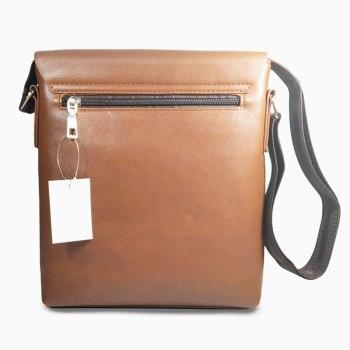 Τσάντα Ώμου & Χιαστί Αντρική Καφέ 22 x 25 x 4cm