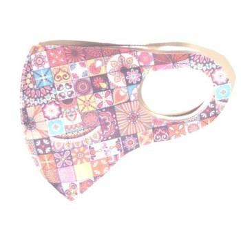Fashion Ελαστική Μάσκα Προστασίας Ρόμβοι Πολύχρωμη 1τμχ