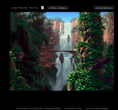 Canvas Cycle- True 8-bit Color Cycling with HTML5