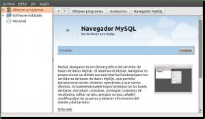 Pantallazo-Centro de software de Ubuntu