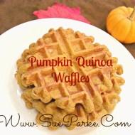 Pumpkin Quinoa Waffles
