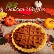 Pumpkin Oat Bran Waffles