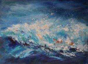 big wave, supernova wave, seascape inspired by Joan Eardley