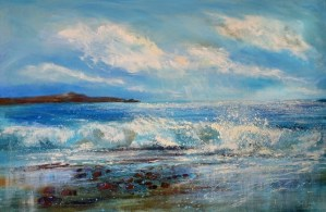 Widemouth bay painting