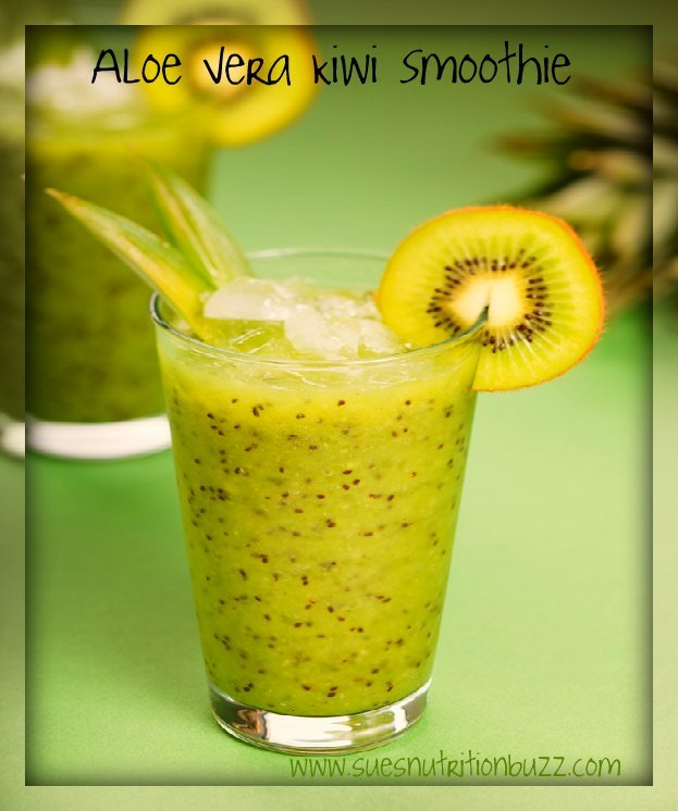 Aloe Vera Benefits & Aloe Kiwi Mint Smoothie