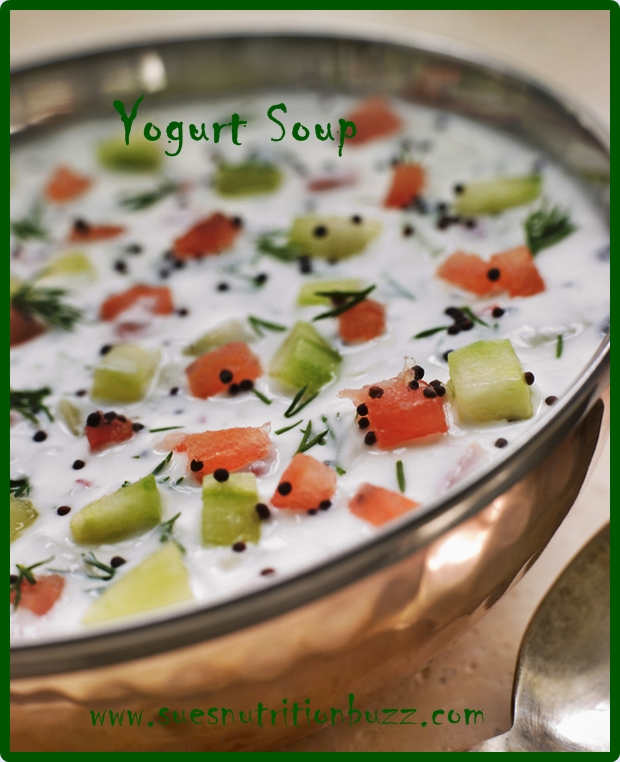 Cool MintyYogurt Summer Soup