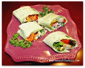 Chicken Kebab Wrap with Grilled Veggies & Tahini Sauce