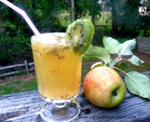 Kiwi Apple Ginger lemonade