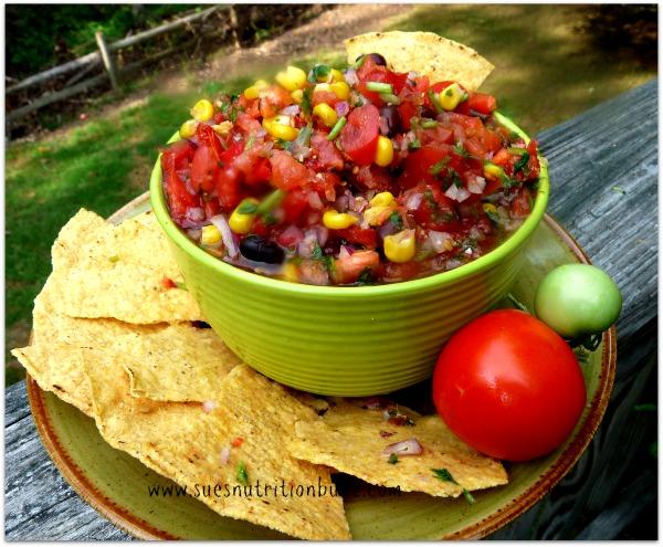 High Fiber Black Bean & Corn Chipotle Salsa #Recipe