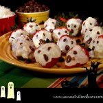 White Chocolate Coconut Strawberry Ghosts