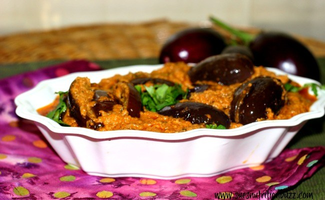 Eggplant Curry ! Fiber Packed Baby Eggplant In Sesame Ginger Coconut Sauce