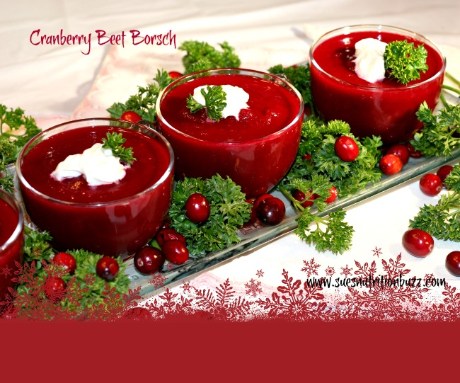 Roasted Cranberry Beet Borscht ( Soup) Shooters