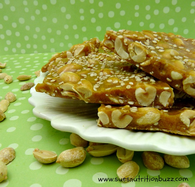 Spicy Peanut Sesame Brittle With Honey & Coconut Oil #SundaySupper