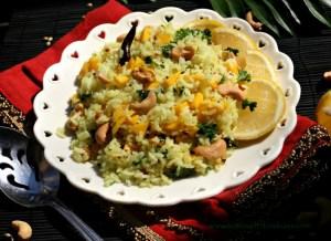 Lemon Rice with Mango & Roasted Cashew