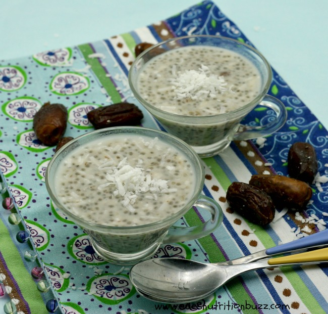 Coconut Date Chia Pudding Packed With Fiber & Brain Food