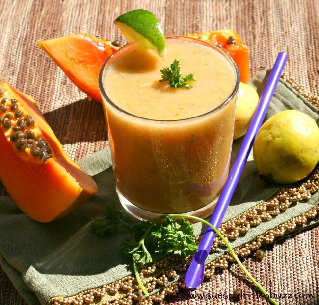 Tropical Guava Papaya Smoothie Super Fruit Guava Papaya