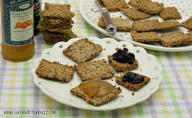 Rustic Grain-Free Crunchy Almond Sesame Crackers #SundaySupper