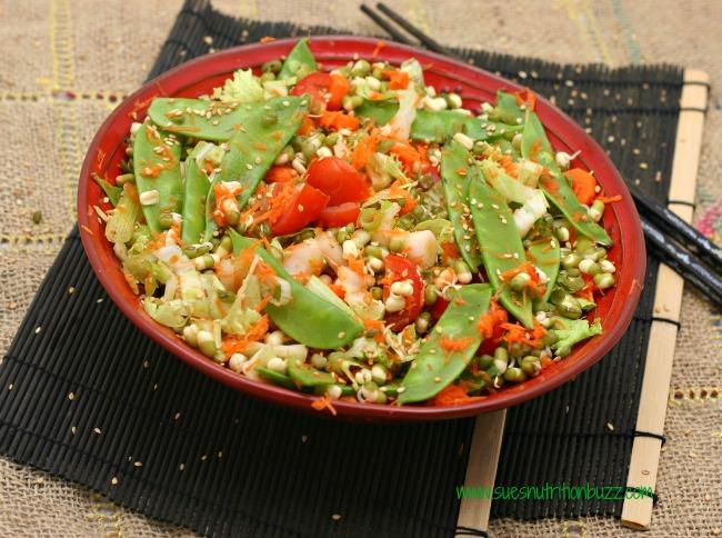 Sprouted Mung Bean Asian Salad #TheSaladBar