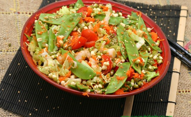 Sprouted Mung Bean Asian Salad #TheSaladBar