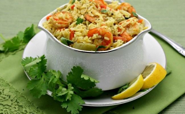 One Pot Coconut Rice Shrimp Pilaf #SundaySupper