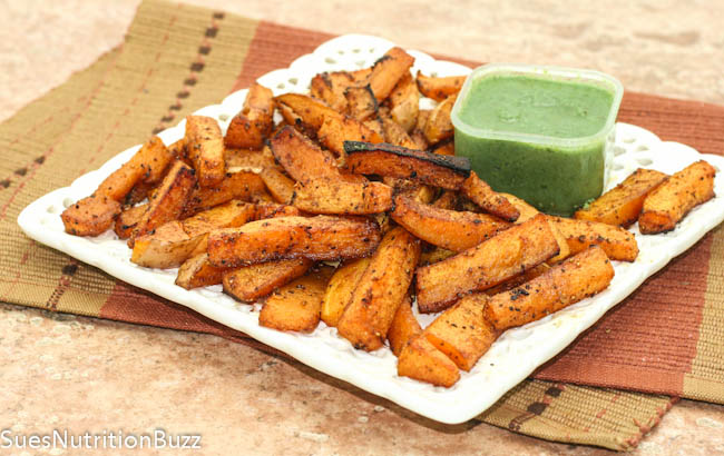 Sweet N Spicy Roasted Chipotle Squash Fries #SundaySupper