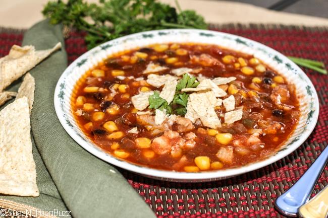Slow Cooker Chunky Chicken Tortilla Soup #SundaySupper #GlutenFree
