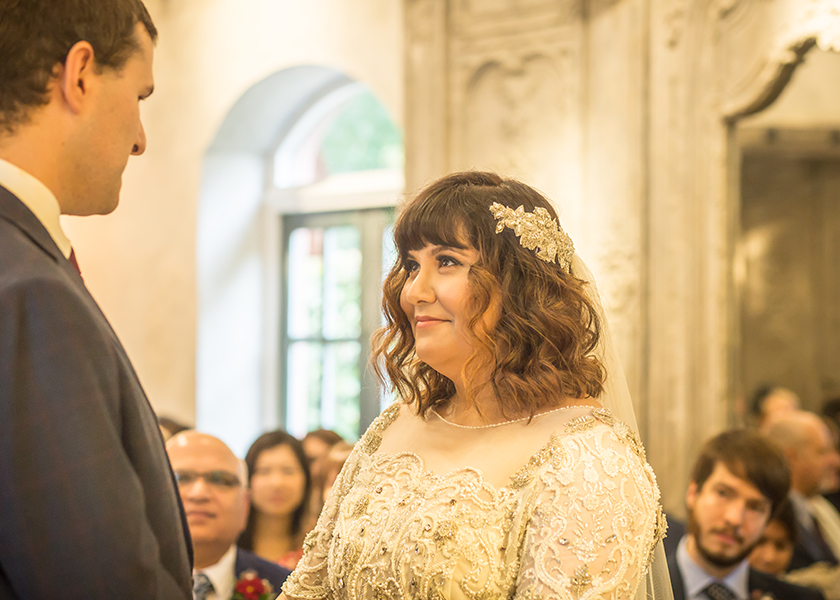 beautiful bride ceremony