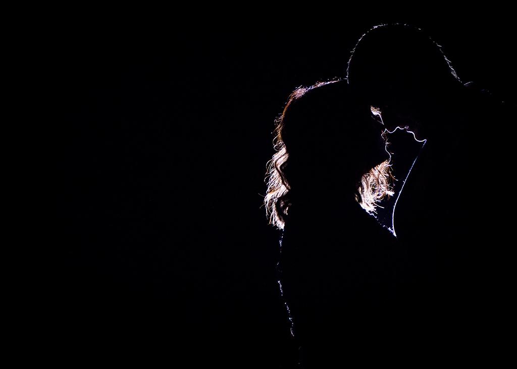silhouette wedding jesmond dene