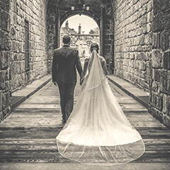 Alnwick castle wedding BW keep
