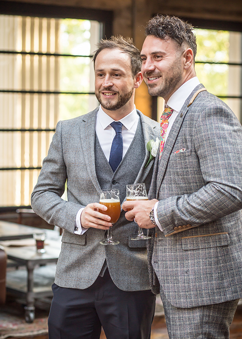 groom and friend
