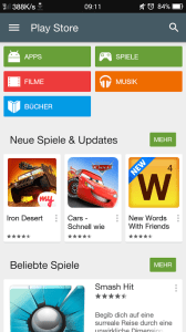 Playstore 5 mit Material Design