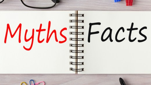 Myths or Facts written on notebook