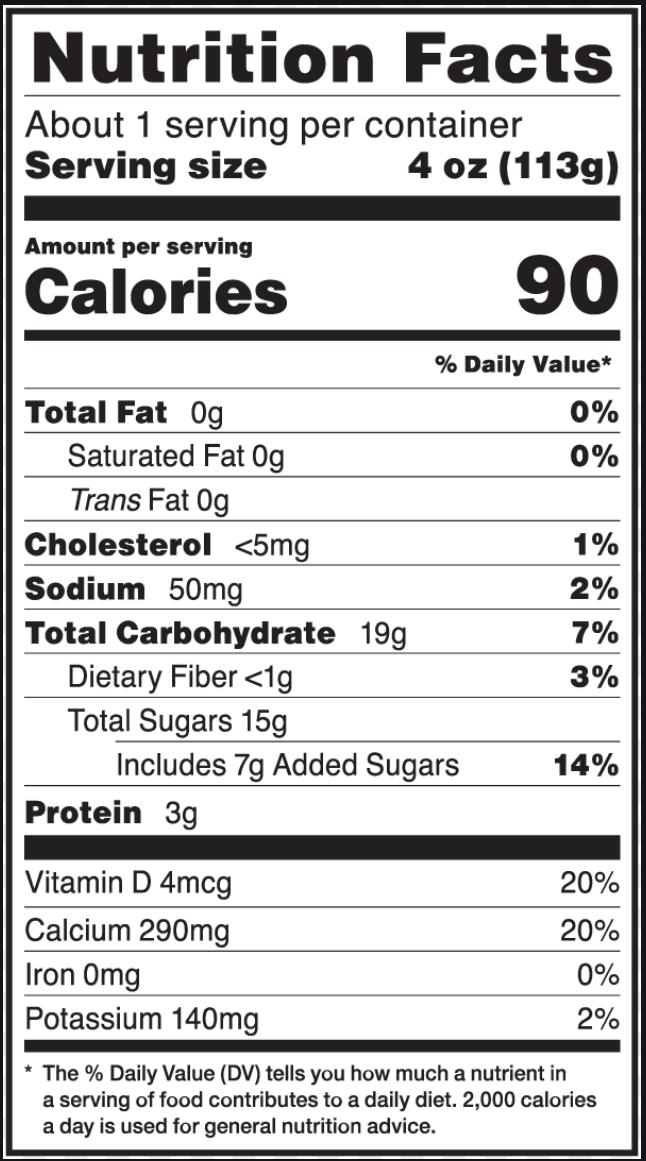 Yogurt Nutrition Fact