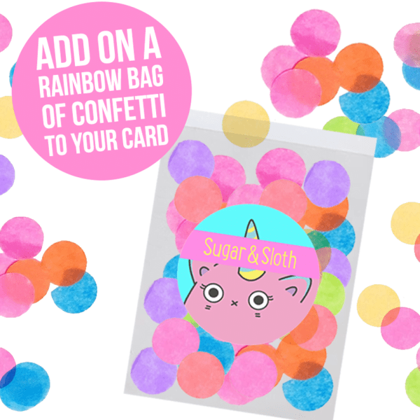 rainbow confetti cards