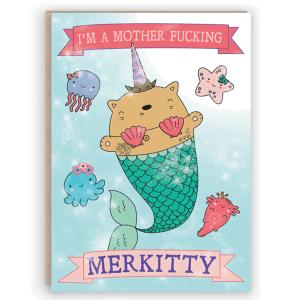 funny merkitty card