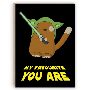 yoda cat card