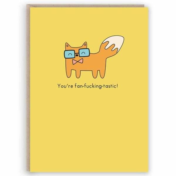 funny fox card