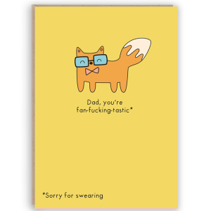 funny fox card for dad