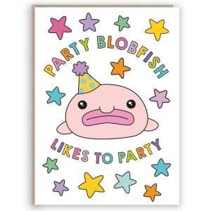 blobfish birthday card