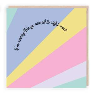 modern sympathy card